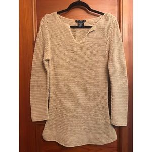 Theory Chainmail-Knit Sweater in Toffee